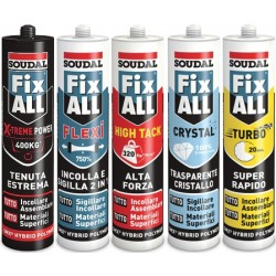 SIGILLANTI ADESIVI SOUDAL UNIV.FIX ALL TRASPARENZA CRISTALLO ML.290 117921