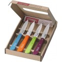 COLTELLI OPINEL ACC.INOX M/CO LEGNO COLOR PZ.4 N.112 001381